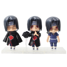 3pcs/lot 9cm Naruto Shippuden Uchiha Itachi Q Version Nendoroid Mini Figurine PVC Action Figure Collectible Model Toys Doll