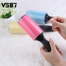 Silicone Dust Pet Hair Remover Cleaning Brush Reusable Washable Roller Sticky with Cover for Pet Cloth Furniture
