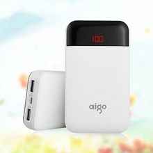 Buy Aigo 10000mAh Power Bank Xiaomi LCD Digital Display Portable Powerbank Dual USB Outputs Mobile External Battery Iphone for $19.66 in AliExpress store