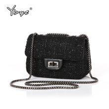 YBYT brand 2017 new fashion joker wool women's flap hotsale ladies winter evening bags small shoulder messenger crossbody bags(China)