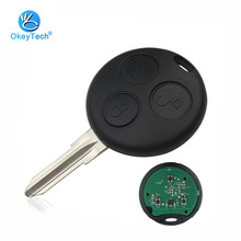 OkeyTech Key Mercedes Benz Fortwo Forfour K Crossblade City Coupe Cabrio 3 Button 433Mhz Full Complete Smart Car Remote Key