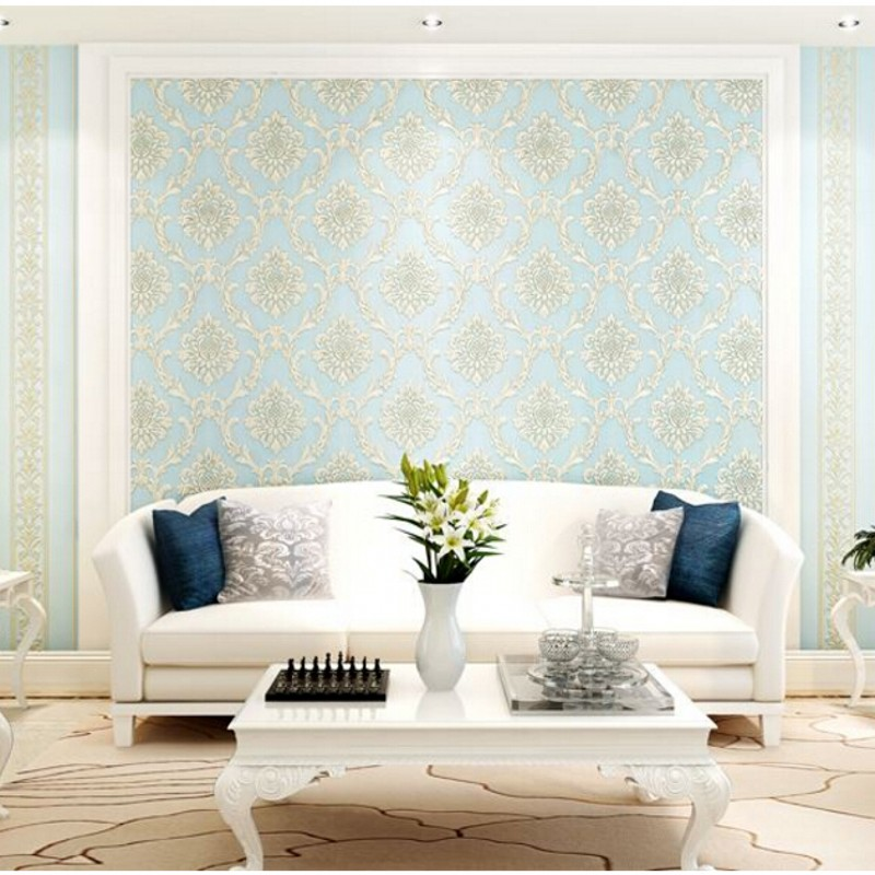 3D wallpaper AB edition wallpaper bedroom 3D Continental thick non-woven wallpaper living room TV background Damas<br><br>Aliexpress