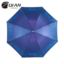 QIAN RAINPROOF Professional Compact Three Folding Printed Anole Umbrella Travel Anti-uv Sun/Rain Durable Umbrella(China)