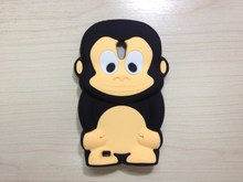 for Samsung GALAXY s2 y s5360 Epic 4G Touch D710 BB 8520  Cute Animal 3D Monkey King Silicone Case Cover  1PC/LOT