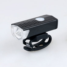 Rechargeable USB 300lm LED Bicycle Bike Flashlight Lamp MTB Front Bicycle Cycling Light Headlight Headlamp Bike Bycicle Light(China)