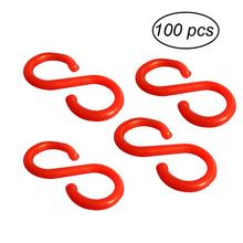 100 Pcs Plastic Hooks Hangers Snack Hanging Pothooks Storage Racks Kitchen Bathroom Spoon Towel Clothes Utensils Retail Store(China)
