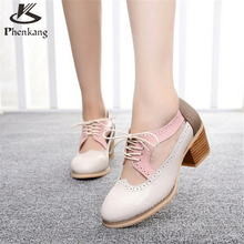 Cow leather big woman shoes US size 9 designer vintage High heels round toe handmade beige pink brown Sandals 2017 sping