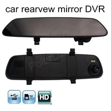 2.4 Inch Car DVR Video Recorder Cam Rearview Mirror Night Vision camcorder dash cam 120 degree wide viewing angle hot sale