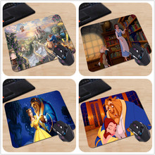 Drop Shipping Rubber Mousepad Beauty And The Beast Mousemat Cartoon Mouse Pad for Computer Mice Mat 18*22cm and 25*29cm