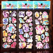 ^ 10PCS / lot Mixed my little pony 3D cartoon bubble wall stickers toys / children's cartoon bubble stickers decoration