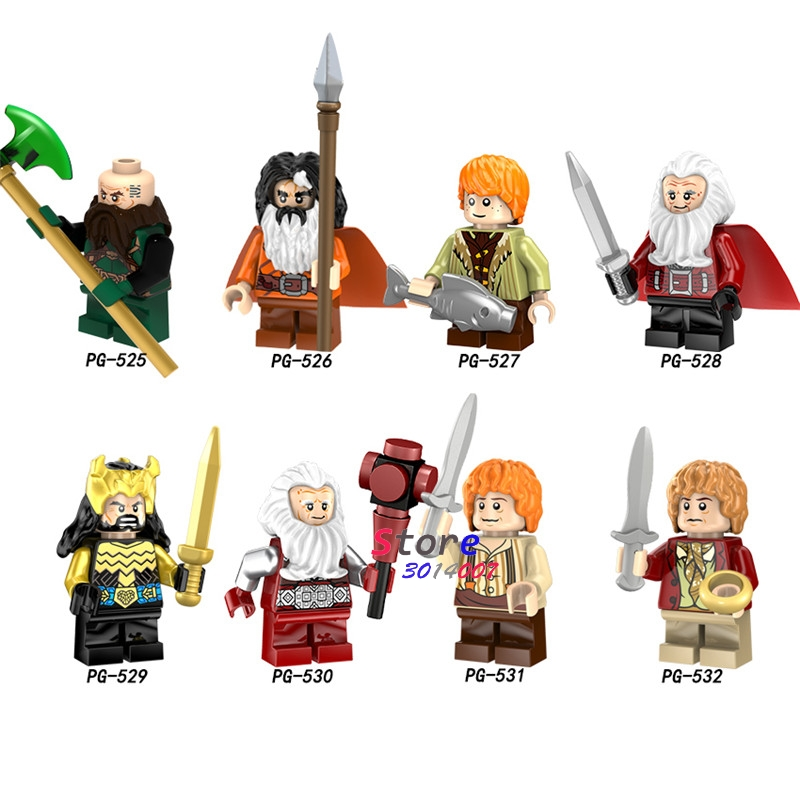 Lord Of The Rings Minifigures Hobbit Building Blocks Gandalf Frodo Baggins Elf