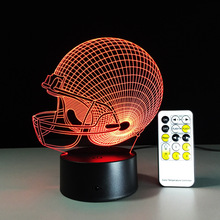 New year 2017 Cleveland Browns Colorful 3D Decor Light LED NFL Football caps LED Lighting Gadget Color Change Table Lamp