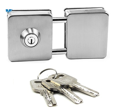 Entry Gate 10-12mm Glass Swing Push Lock Locks With Keys Frameless Glass Door No glass boring cut<br>