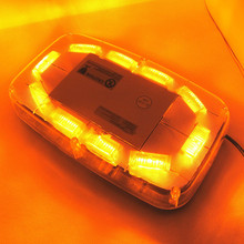 30W 30 LED Emergency Beacon Light Bar Strobe Flashing Warning Lamp Amber 12V
