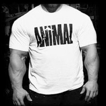 Trends in 2017EINAUDI fitness cotton brand clothes for men Animal print tracksuit t shirt muscle shirt bodybuilding Tee large XX
