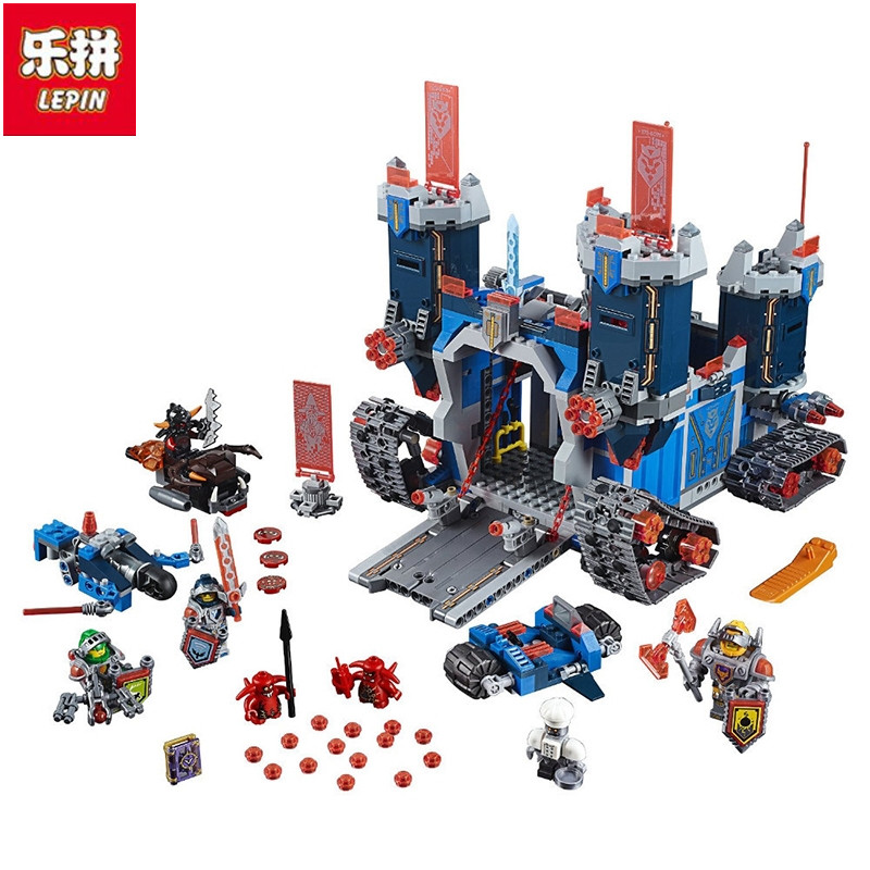 Lepin 14006 1115Pcs Nexus Knights The Fortrex Castle Building Block Clay Aaron Fox Axl Figures with<br>