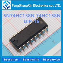 10pcs/lot  New  SN74HC138N  74HC138N  DIP-16   3-LINE TO 8-LINE DECODERS/DEMULTIPLEXERS  IC