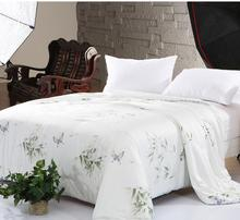 Hot sale 100% Silk comforter/quilt/Blanket/Duvet,for Spring Home King/Full/Queen double bed Size silk comforter summer(China)