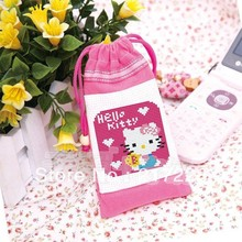 Cross Stitch Mobile Phone Coin MP3 MP4 Bag Kello Kitty CS-004MON
