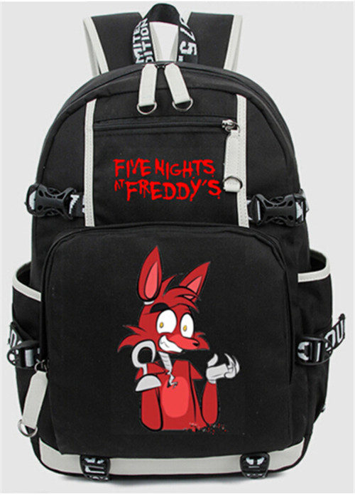 Five Nights At Freddys Freddy Backpack Chica Foxy Bonnie FNAF Shoulder 44x15x33 cm Gift Book Bag<br>