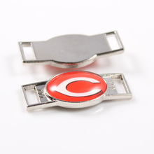 Cincinnati Reds MLB Baseball Team Logo Oval Shoelace Charms For Sport Shoes And Paracord Bracelets Jewelry Decoration 6pcs
