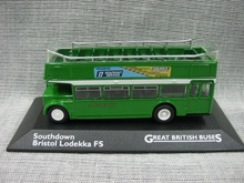 1:72 London Double-decker Tour Bus Southdown Bristol Lodekka FS Car Model(China)