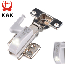 10PCS KAK LED Cabinet Hinge Light Universal Kitchen Bedroom Living Room Cupboard Wardrobe 0.25W Inner Sensor light Hardware(China)