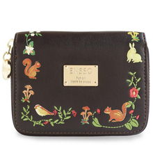 New Squirrel Bird Black Floral Lock Card Lady Animal Prints Embroidery Leather PU Women's Day Clutches  Envelope Wallet Purses