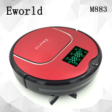 Eworld Robot Vacuum Cleaner With Big Garbage Box Electronics Cordless Cleaner Big Mop Self charging For House Floor Cleaning(China)