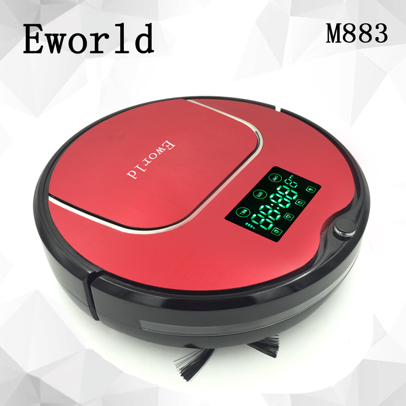 Eworld 2016 NEW Robot Vacuum Cleaner With Big Garbage Box Electronics Cordless Cleaner With Big Mop For House Floor Cleaning(China)