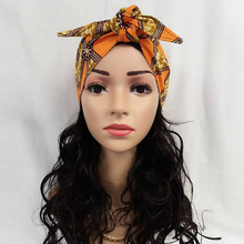 African Headties Sego Gele Head Tie for Women African Cotton Wax Print Ankara Handmade Accessories Versatile Hair Tie WYX04(China)