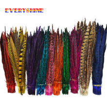 Retail 24 pcs Long 25 to 30cm Natural DIY Pheasant Tail Feather Hair Extension Centerpieces for Wedding Decorations IF16(China)