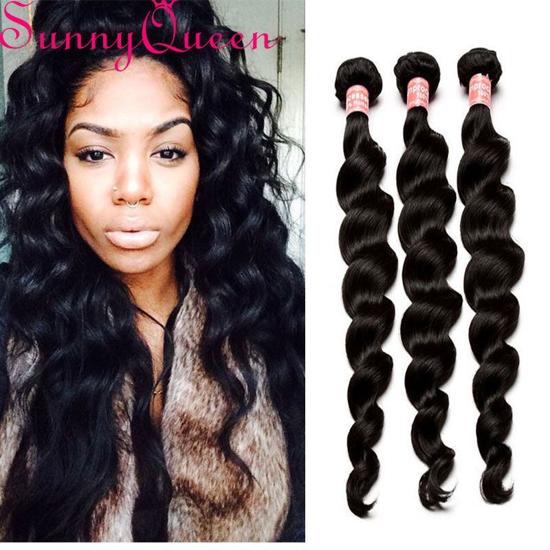 Malaysian Loose Wave Virgin Hair 3Pieces Loose Curly Weave Human Hair 7A  Unprocessed  Loose Wave Malaysian Hair Extensions<br><br>Aliexpress