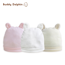 Newborn Baby Hat 2Pcs/lot 100% Nature Cotton Infant Baby Unisex Soft Warm Hat Baby Clothes Accessories For 0-6M Girls & Boys.(China)