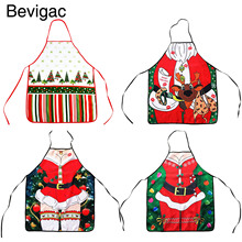 Bevigac Christmas Novelty Cooking Kitchen Apron Costumes Party Prop Christmas Santa New Year Decoration for Home Restaurant BBQ(China)