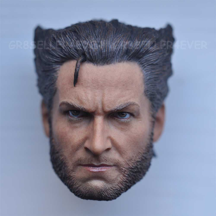 1/6 male Head Sculpt  for 12 Action Figure body  soldier head model toy X-MAN Wolverine 3 Hugh Jackman X-Men reverse the future<br>