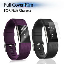 Full Cover Clear Screen Protector for Fitbit Charge 2 High Definition 0.1mm TPU Material Ultra Thin Smart Watch Protective Film