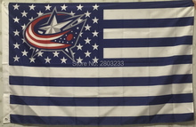 Columbus Blue Jacket USA star stripe Premium Outdoor Indoor American Flag 3X5FT Drop Shipping Custom Club Sport Flag