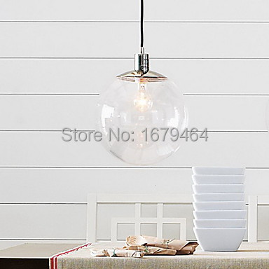 LED Free Shipping 60W E27 Pendent Light in Glass Ball Feature 60W<br><br>Aliexpress
