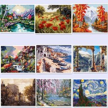 HOME BEAUTY 40x50cm picture paint on canvas diy digital oil painting paint by numbers drawing coloring by number landscapeWQ4(China)