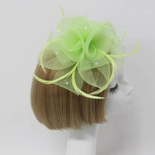 Beauty Women Fascinator Crystal Flower Hat Headbands Cocktail Wedding Headpiece 2016