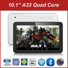 High Quality 10 inch Tablet PC Allwinner A33 Quad Core Android 4.4 Dual Camera Bluetooth 1GB RAM 8GB ROM(China)