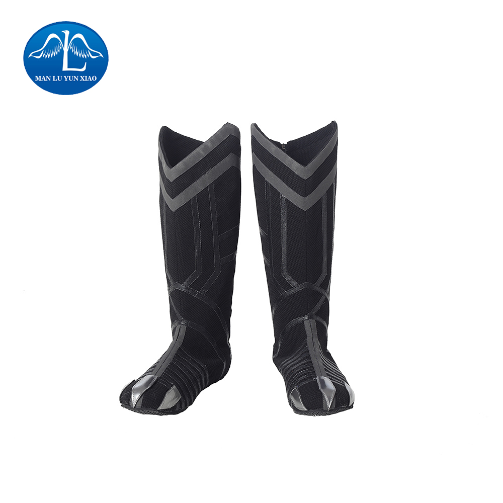 MANLUYUNXIAO New Arrival Men's Black Panther Cosplay Boots Halloween Carnival Cosplay Boots Halloween Prop For Adult