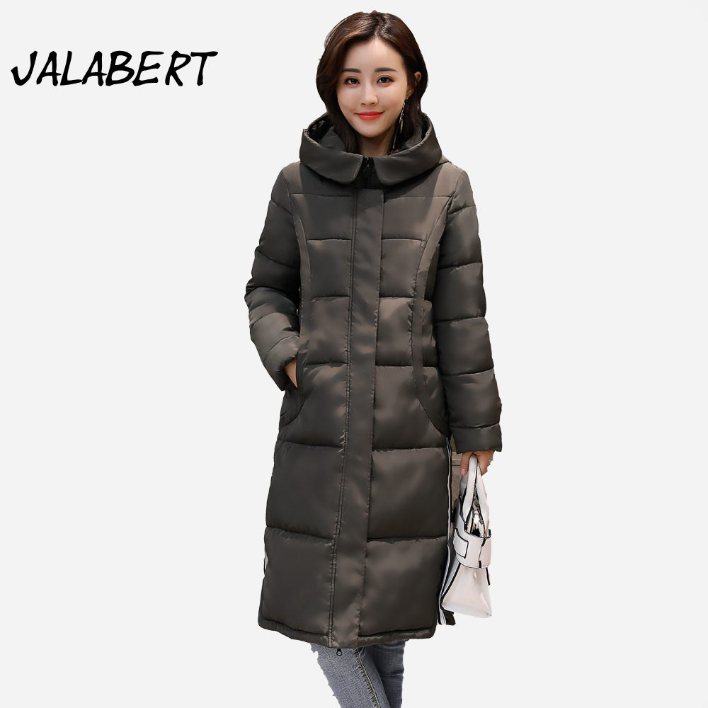 2017 new women long cotton Slim warm winter jacket Female fashion Hooded pocket coat zipper Solid Parkas  Îäåæäà è àêñåññóàðû<br><br>