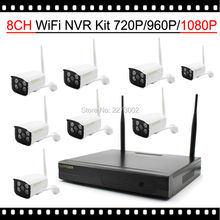 8CH Wireless Camera System 1080P NVR 8PCS 2MP IR Outdoor P2P Wifi IP Kamepa  CCTV Security System Surveillance Kit 2TB HDD
