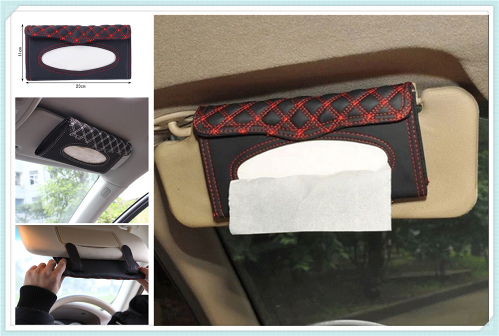 Car interior sun visor tissue box supplies clipboard paper towel rack for Honda City OSM FC Small PUYO Element Step REMIX CRV