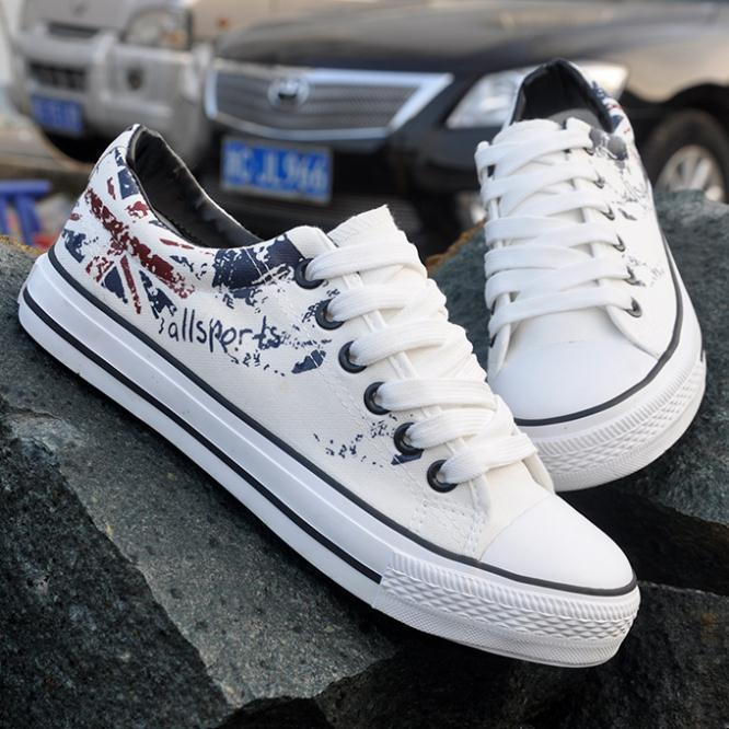 2017 New Arrived  Spring Male  Mens  Low Canvas Shoes  Flat  Flag Print Casual shoes For Men<br><br>Aliexpress