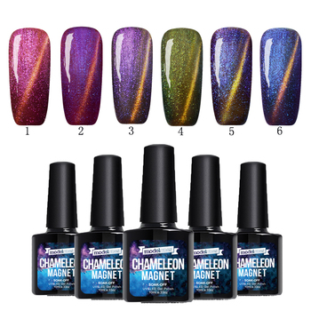 Modelones Newest Magnetic Nail Gel Polish UV LED Gel Cat Eye Gelpolish For Gel Nail Cat Eyes Nail Polish Use With Magnetic Stick