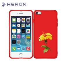 Super Thin Soft Red Matt Case For iPhone 5 5s SE 6 6s 6+ i7 7+ i8 i8+ X iX Flower Feather Phone Back Cover Bag Anti Finger Print(China)
