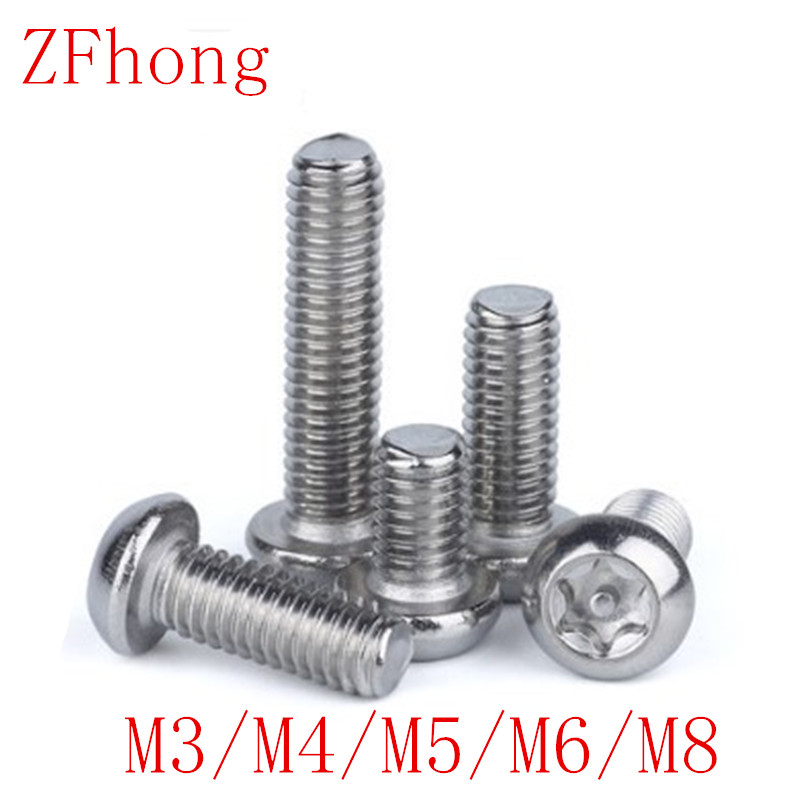 M6 M8 A2 304 Stainless Steel Pin Tamper Torx Security Button Head Screw Bolts